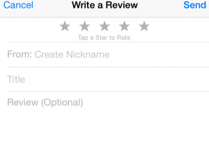 iphone podcast review window
