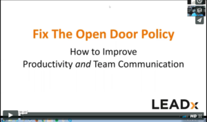 WEBINAR: Fix Your Open Door Policy