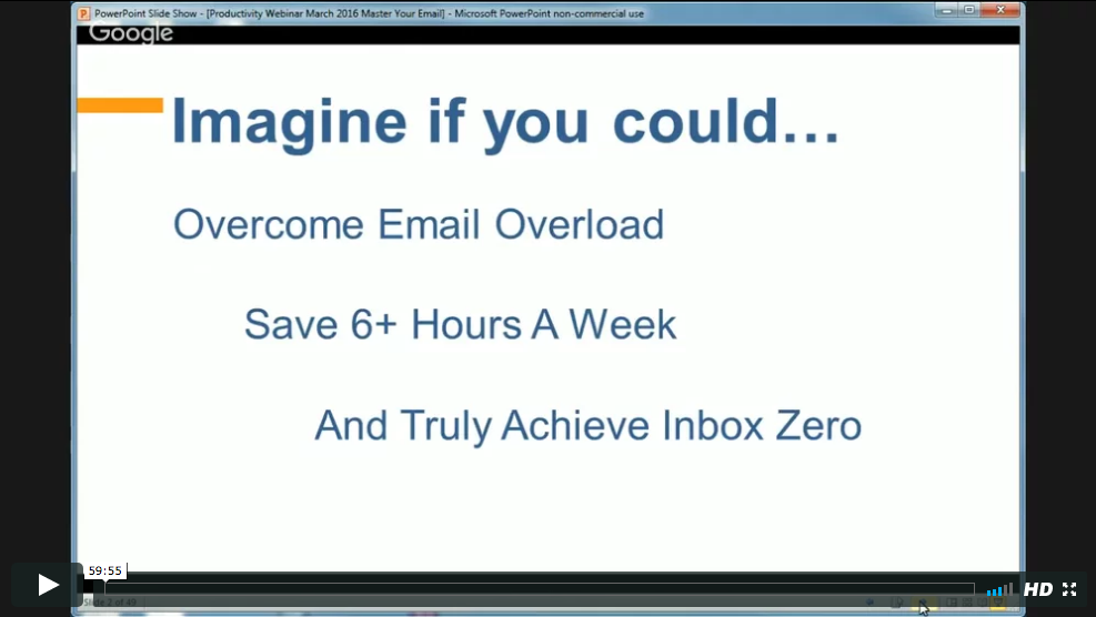 WEBINAR: Manage Your Email