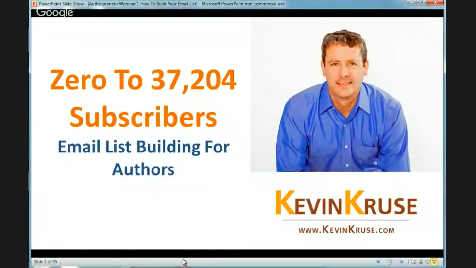 WEBINAR: Zero to 37,000: Email List Building For Authors