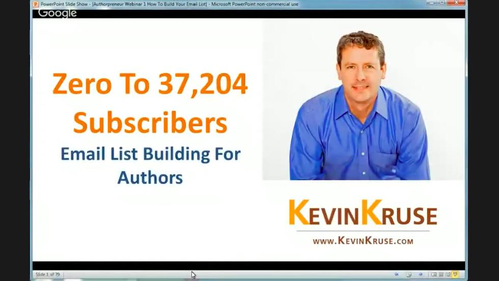 WEBINAR: Email List Building (Branding)