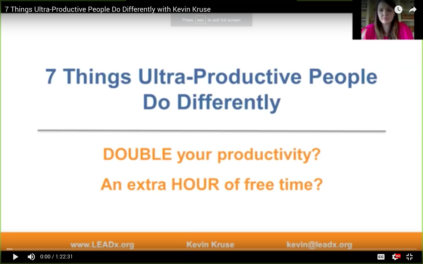 WEBINAR: Secrets to Ultra-Productivity