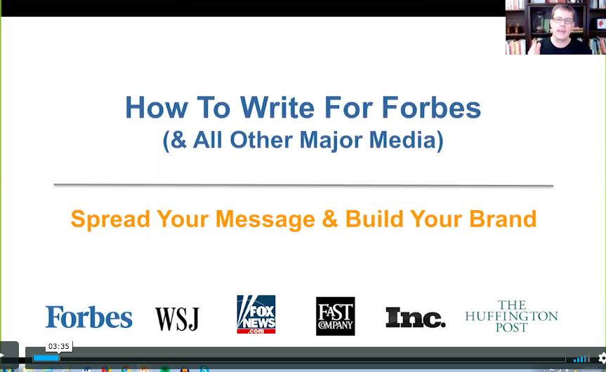 WEBINAR: Write for Forbes (Branding)