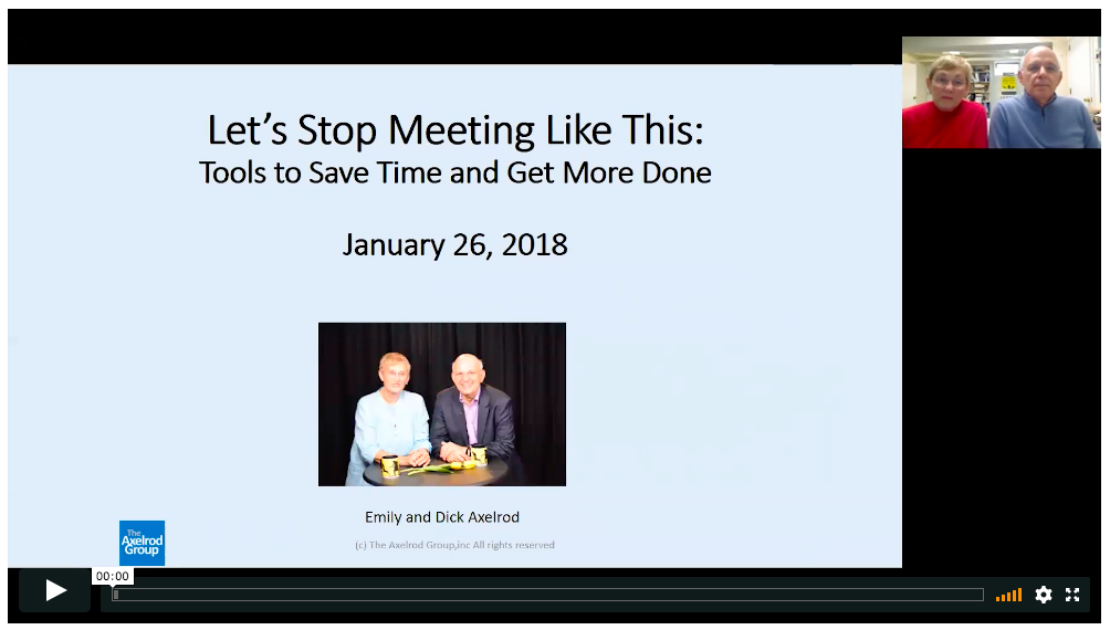WEBINAR: Hold Better Meetings