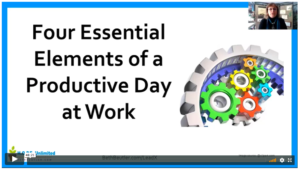 WEBINAR: 4 Secrets To Productivity